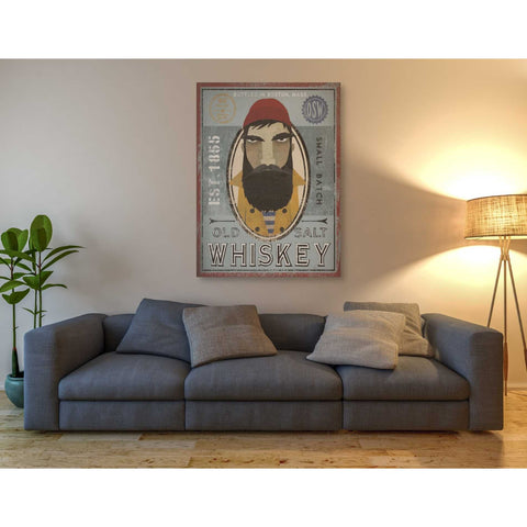 'Fisherman VI Old Salt Whiskey' by Ryan Fowler, Giclee Canvas Wall Art