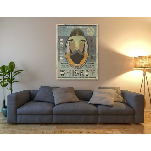 'Fisherman V Old Salt Whiskey' by Ryan Fowler, Giclee Canvas Wall Art