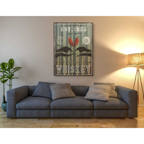 'Old Salt Whiskey Love Birds' by Ryan Fowler, Giclee Canvas Wall Art