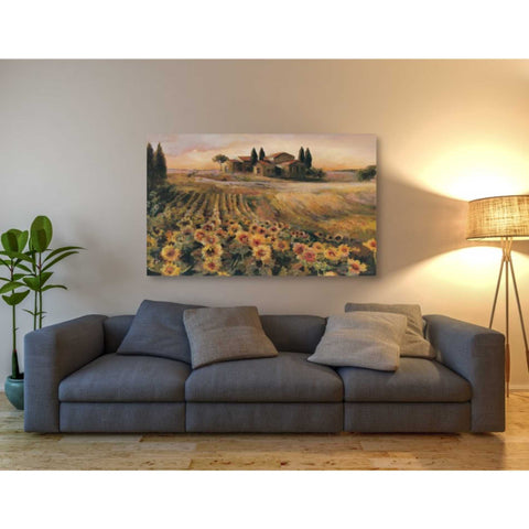 'Sunflowers in Italy' by Marilyn Hageman, Giclee Canvas Wall Art