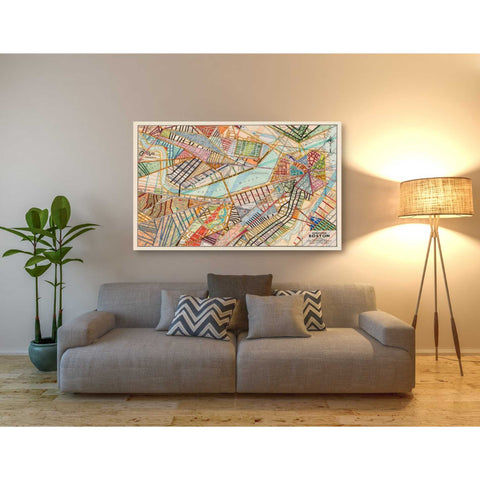 'Modern Map of Boston' by Nikki Galapon Giclee Canvas Wall Art