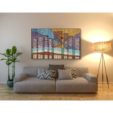 'Modern Map of Detroit' by Nikki Galapon Giclee Canvas Wall Art