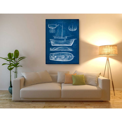 'Antique Ship Blueprint II' by Vision Studio Giclee Canvas Wall Art
