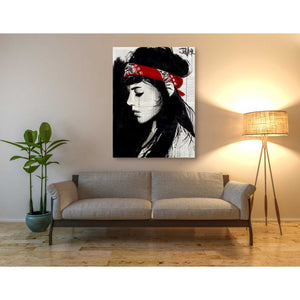 'Red Bandana' by Loui Jover, Canvas Wall Art,40 x 54