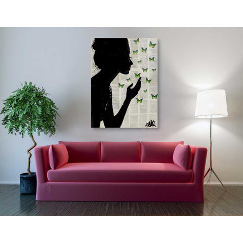 """Simplicity Green"" by Loui Jover, Giclee Canvas Wall Art"