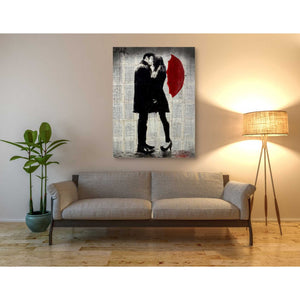 'Winters Kiss' by Loui Jover, Canvas Wall Art,40 x 54