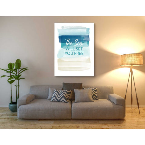 'Sea Will Set You Free' by Linda Woods, Canvas Wall Art,40 x 54