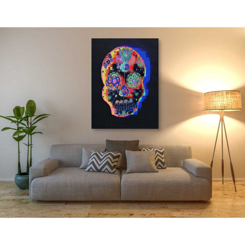 'Colorful Skull' by Irena Orlov, Canvas Wall Art,40 x 54
