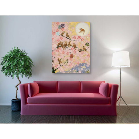 Image of 'Jolly Sparrows' by Zigen Tanabe, Giclee Canvas Wall Art