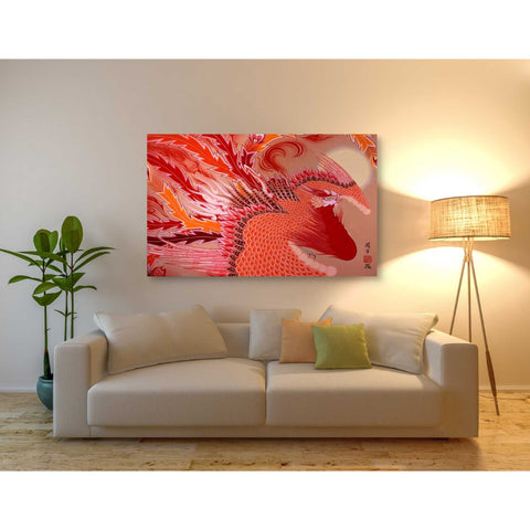 'Red Peacock' by Zigen Tanabe, Giclee Canvas Wall Art