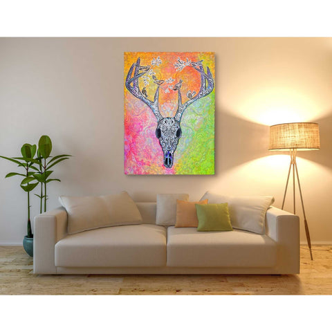 Image of 'Skull and Bird' by Surma and Guillen, Giclee Canvas Wall Art