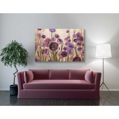 """Pink And Purple Flowers"" by Silvia Vassileva, Giclee Canvas Wall Art"