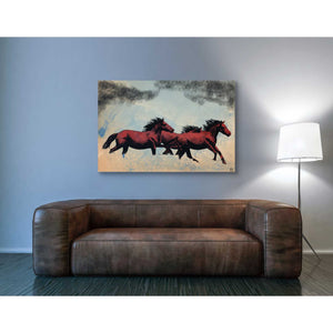 'Horses' by Giuseppe Cristiano, Giclee Canvas Wall Art