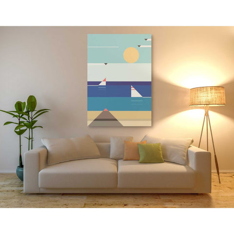 'Quiet Sea' by Antony Squizzato, Giclee Canvas Wall Art