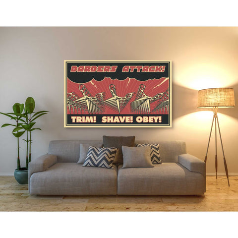 Image of 'Barbershop' Giclee Canvas Wall Art