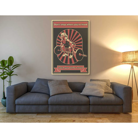 'Gym Motivation' Giclee Canvas Wall Art
