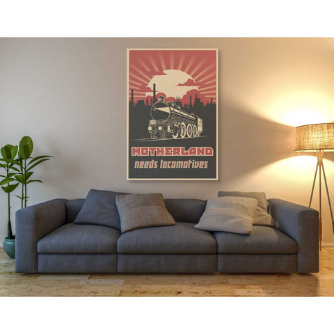 'Motherland Needs Locomotives' Giclee Canvas Wall Art