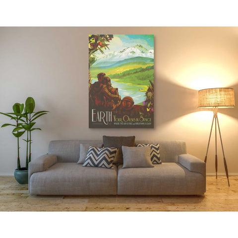 'Visions of the Future: Earth' Canvas Wall Art,40 x 60