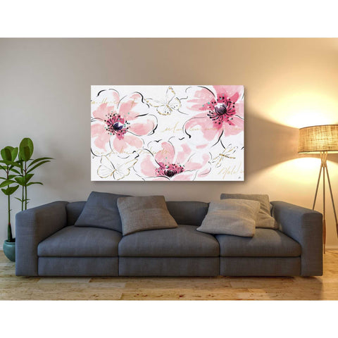 Image of 'Simply Pink I' by Daphne Brissonet, Giclee Canvas Wall Art