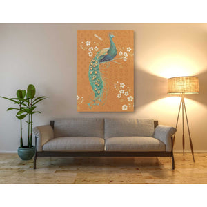 'Ornate Peacock IX Spice' by Daphne Brissonet, Giclee Canvas Wall Art