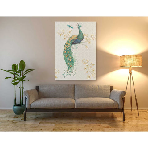 'Ornate Peacock XA' by Daphne Brissonet, Giclee Canvas Wall Art