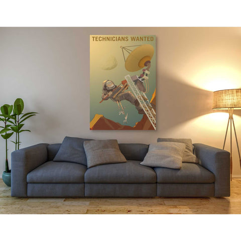 "Image of ""Mars Explorer Series: Technicians Wanted"" Giclee Canvas Wall Art"