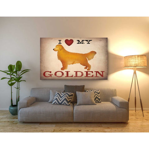'Golden Dog at Show Love III' by Ryan Fowler, Canvas Wall Art,40 x 60