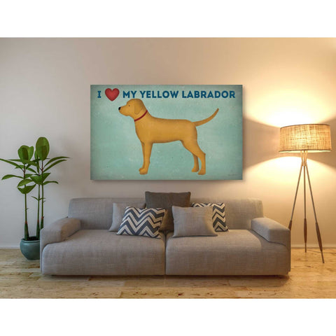 'Golden Dog Love I' by Ryan Fowler, Giclee Canvas Wall Art