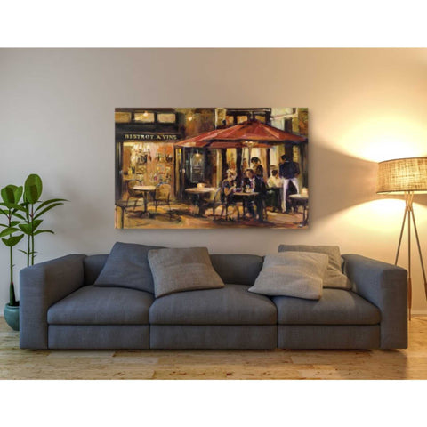 'Bistrot a Vins Warm' by Marilyn Hageman, Giclee Canvas Wall Art