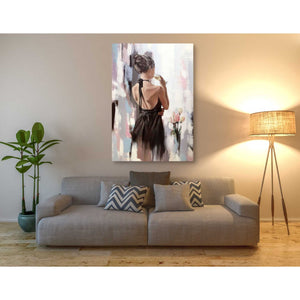 'Girl With Roses' by Alexander Gunin, Canvas Wall Art,40 x 60