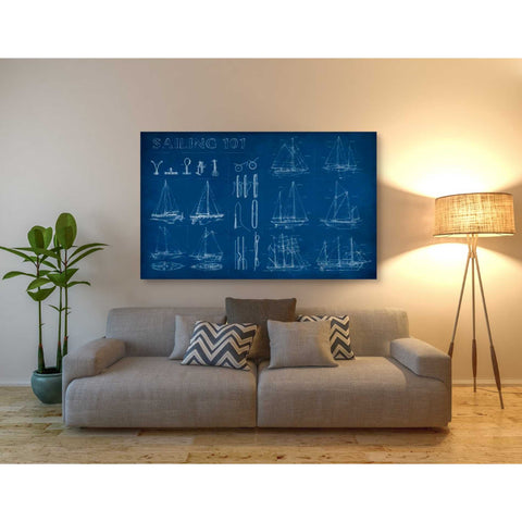 'Sailing Infograph' by Ethan Harper Canvas Wall Art,60 x 40