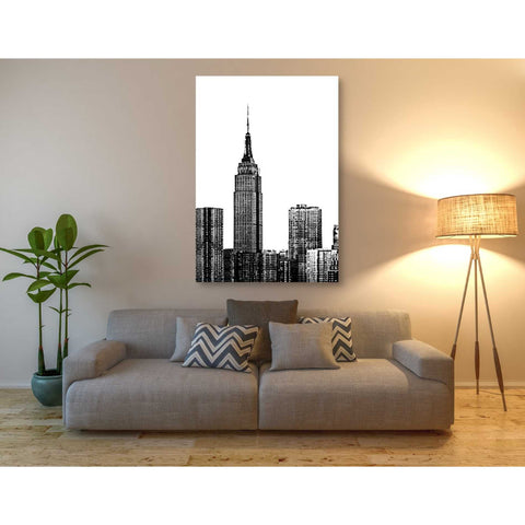 'NYC in Pure B&W XVIII' by Jeff Pica Giclee Canvas Wall Art