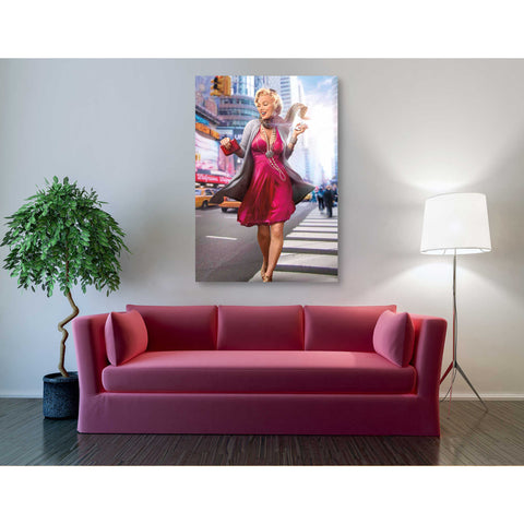 'Marilyn in the City' by JJ Brando Giclee Canvas Wall Art