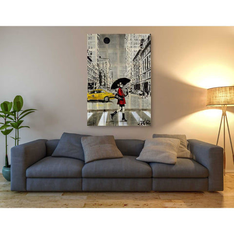 Image of 'Red Coat' by Loui Jover, Canvas Wall Art,40 x 60