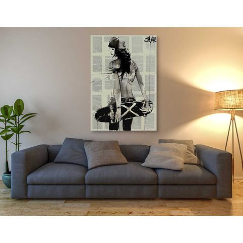 'Sk8Ter Gurl' by Loui Jover, Giclee Canvas Wall Art