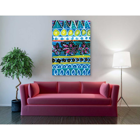 'Pattern Painting I' by Linda Woods, Giclee Canvas Wall Art