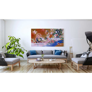 'Flowers Peacock' by Zigen Tanabe, Giclee Canvas Wall Art