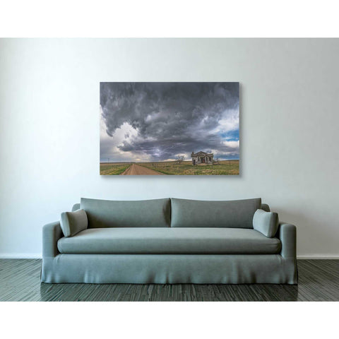 Image of 'Pawnee School Storm' by Darren White, Canvas Wall Art,40 x 60