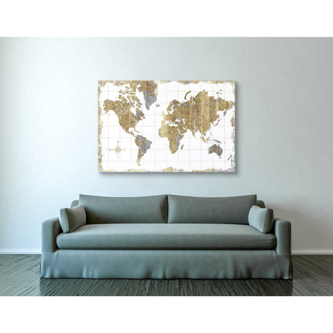 """Gilded Map"" by Wild Apple Portfolio, Giclee Canvas Wall Art"