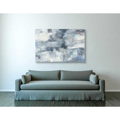 """In The Clouds Indigo and Grey"" by Silvia Vassileva, Canvas Wall Art,40 x 60"