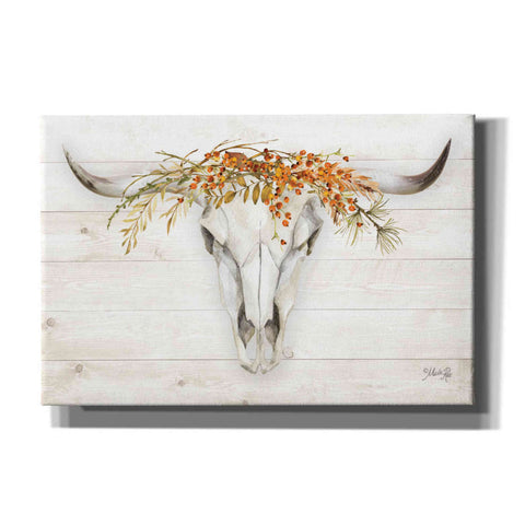 'Fall Steer Skull' by Marla Rae, Canvas Wall Art