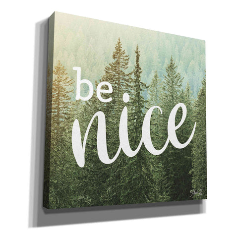 'Be Nice' by Marla Rae, Canvas Wall Art