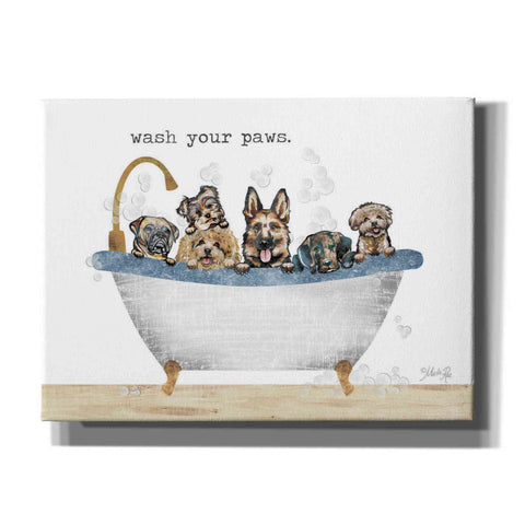 'Wash Your Paws' by Marla Rae, Canvas Wall Art