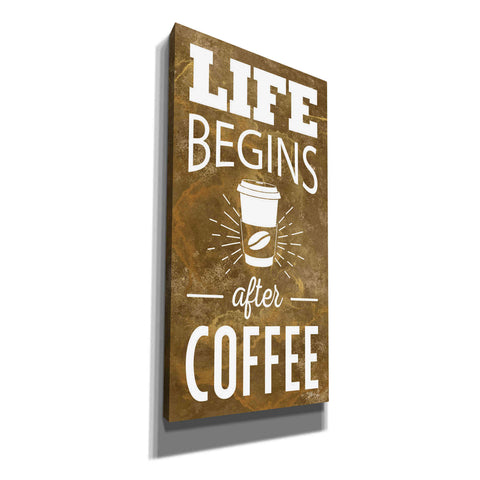 'Life Begins After Coffee' by Marla Rae, Canvas Wall Art
