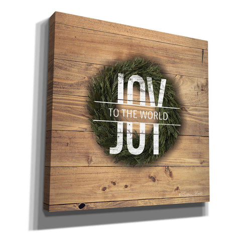 'Joy to the World with Wreath' by Susan Ball, Canvas Wall Art