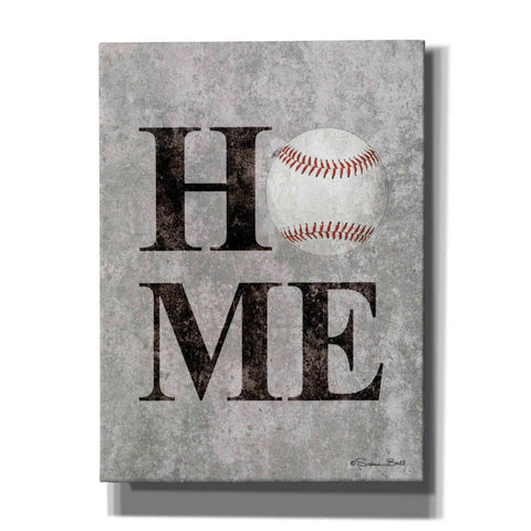'Baseball HOME' by Susan Ball, Canvas Wall Art