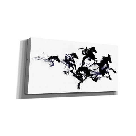Image of 'Black Horses' by Robert Farkas, Canvas Wall Art