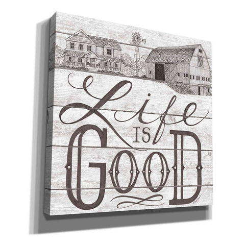 'Life is Good' by Deb Strain, Canvas Wall Art