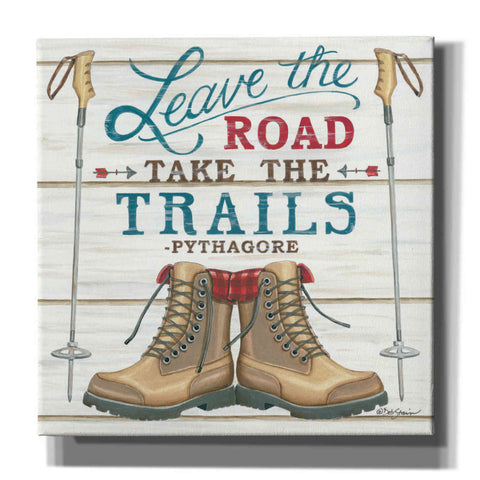 'Leave the Road' by Deb Strain, Canvas Wall Art