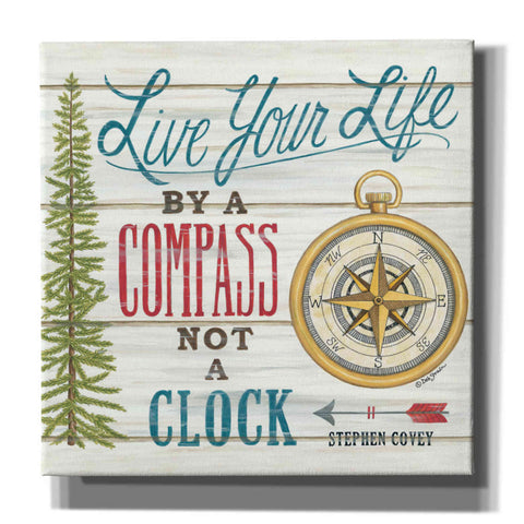 'Compass Not a Clock' by Deb Strain, Canvas Wall Art